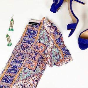 Olivaceous bohemian style mini dress size S
